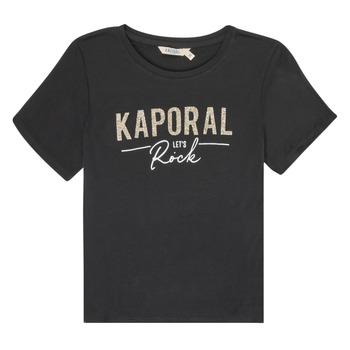 Oblačila Deklice Majice s kratkimi rokavi Kaporal MAPIK Črna