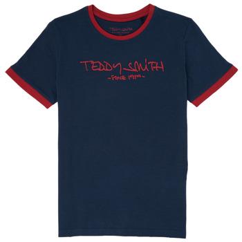 Oblačila Dečki Majice s kratkimi rokavi Teddy Smith TICLASS 3 Modra