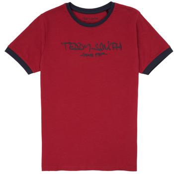 Oblačila Dečki Majice s kratkimi rokavi Teddy Smith TICLASS 3 Rdeča