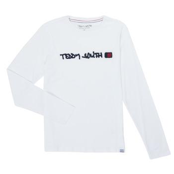 Oblačila Dečki Majice z dolgimi rokavi Teddy Smith CLAP Bela