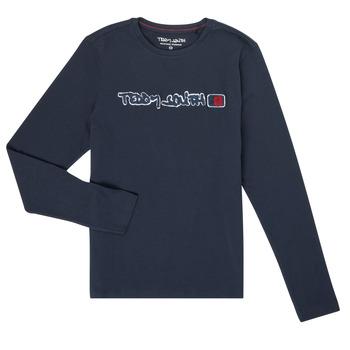Oblačila Dečki Majice z dolgimi rokavi Teddy Smith CLAP Modra