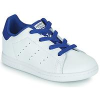 Čevlji  Dečki Nizke superge adidas Originals STAN SMITH EL I Bela / Modra