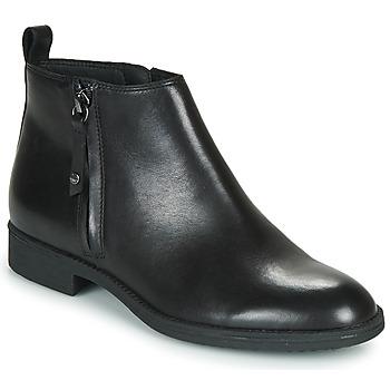 Čevlji  Ženske Gležnjarji Geox JAYLON Črna
