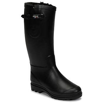 Čevlji  Ženske Škornji za sneg Aigle AIGLENTINE FUR Črna
