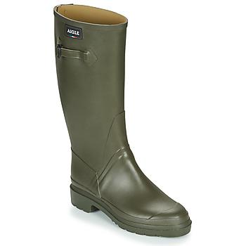 Čevlji  Moški škornji za dež  Aigle CESSAC Kaki
