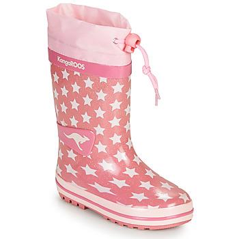 Čevlji  Deklice škornji za dež  Kangaroos K-RAIN Rožnata