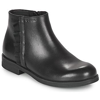 Čevlji  Deklice Polškornji Geox AGGATA Črna