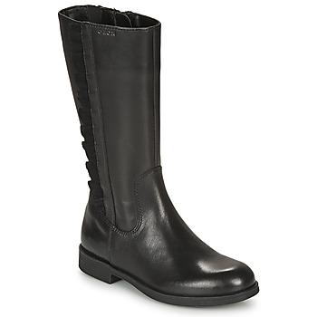 Čevlji  Deklice Mestni škornji    Geox AGGATA Črna