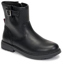 Čevlji  Deklice Polškornji Geox ECLAIR Črna