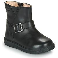 Čevlji  Deklice Mestni škornji    Geox HYNDE WPF Črna