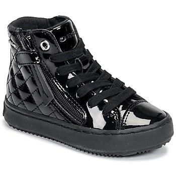 Čevlji  Deklice Visoke superge Geox KALISPERA Črna