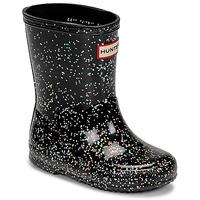 Čevlji  Deklice škornji za dež  Hunter KIDS FIRST CLASSIC GLITTER Črna