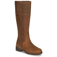 Čevlji  Ženske Mestni škornji    Timberland GRACEYNTALLSIDEZIPWP Kostanjeva
