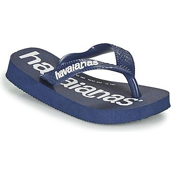 Čevlji  Dečki Japonke Havaianas Top Logomania Modra
