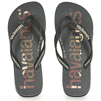 Čevlji  Japonke Havaianas Top Logomania Črna