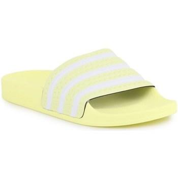 Čevlji  Ženske Natikači adidas Originals Adilette W Bela,Rumena