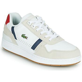 Čevlji  Moški Nizke superge Lacoste T-CLIP 0120 2 SMA Bela / Rdeča