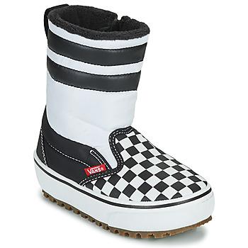 Čevlji  Otroci Škornji za sneg Vans YT SLIP-ON SNOW BOOT MTE Črna / Bela