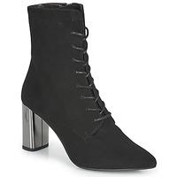 Čevlji  Ženske Gležnjarji Perlato JAMOGA Črna