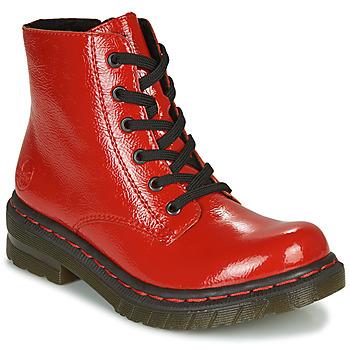 Čevlji  Ženske Polškornji Rieker 76240-33 Rdeča
