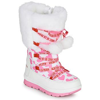 Čevlji  Deklice Škornji za sneg Agatha Ruiz de la Prada APRESKI Bela