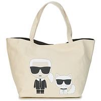 Torbice Ženske Nakupovalne torbe Karl Lagerfeld K/IKONIK KARL & CHOUPETTE TOTE Črna