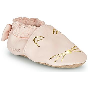 Čevlji  Deklice Nogavice Robeez GOLDY CAT Rožnata / Pozlačena