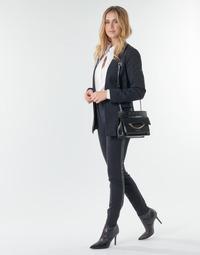 Oblačila Ženske Hlače s 5 žepi Karl Lagerfeld PUNTO PANTS W/ LOGO TAPE Črna