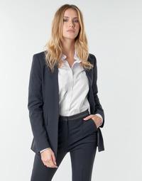 Oblačila Ženske Jakne & Blazerji Karl Lagerfeld PUNTO JACKET W/ SATIN LAPEL Črna