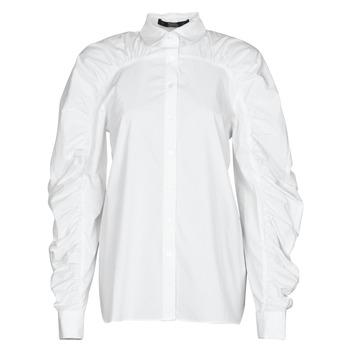 Oblačila Ženske Srajce & Bluze Karl Lagerfeld POPLIN BLOUSE W/ GATHERING Bela