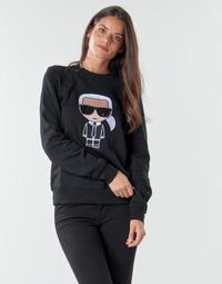 Oblačila Ženske Puloverji Karl Lagerfeld IKONIK KARL SWEATSHIRT Črna
