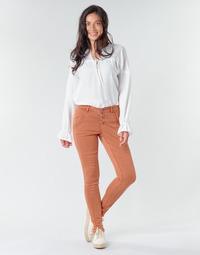 Oblačila Ženske Hlače s 5 žepi Cream HOLLY CR TWILL Kostanjeva
