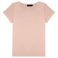 Oblačila Deklice Majice s kratkimi rokavi Deeluxe GLITTER Rožnata