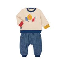 Oblačila Dečki Otroški kompleti Catimini CR36050-46 Večbarvna