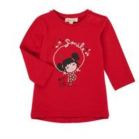 Oblačila Deklice Majice z dolgimi rokavi Catimini CR10043-38 Rdeča