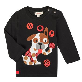 Oblačila Dečki Majice z dolgimi rokavi Catimini CR10022-02 Črna