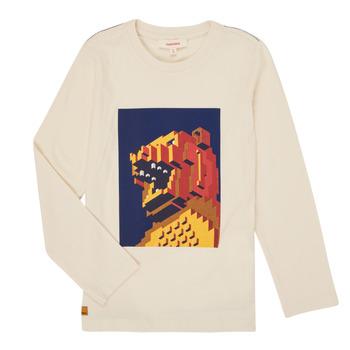 Oblačila Dečki Majice z dolgimi rokavi Catimini CR10064-17-C Bela