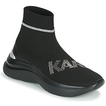 Čevlji  Ženske Visoke superge Karl Lagerfeld SKYLINE KARL RHINESTONE PULL ON BT Črna