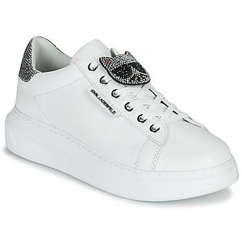 Čevlji  Ženske Nizke superge Karl Lagerfeld KAPRI IKONIC TWIN LO LACE White /  lthr / Silver