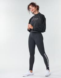 Oblačila Ženske Pajkice Converse CONVERSE WOMENS WORDMARK LEGGING Črna