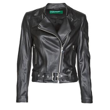 Oblačila Ženske Usnjene jakne & Sintetične jakne Benetton 2ALB53673 Črna
