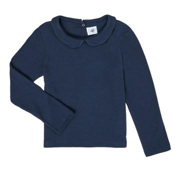 Oblačila Deklice Majice z dolgimi rokavi Petit Bateau LOVING Modra