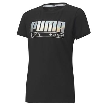 Oblačila Deklice Majice s kratkimi rokavi Puma ALPHA TEE 165 Črna