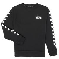 Oblačila Dečki Puloverji Vans EXPOSITION CHECK CREW Črna