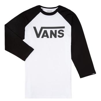 Oblačila Dečki Majice z dolgimi rokavi Vans VANS CLASSIC RAGLAN Črna / Bela
