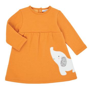 Oblačila Deklice Kratke obleke Noukie's Z050083 Oranžna