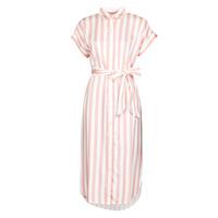 Oblačila Ženske Dolge obleke Lauren Ralph Lauren CICERO Bela / Rožnata