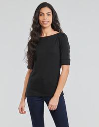 Oblačila Ženske Majice z dolgimi rokavi Lauren Ralph Lauren JUDY Črna