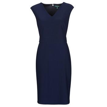 Oblačila Ženske Kratke obleke Lauren Ralph Lauren JANNETTE Modra