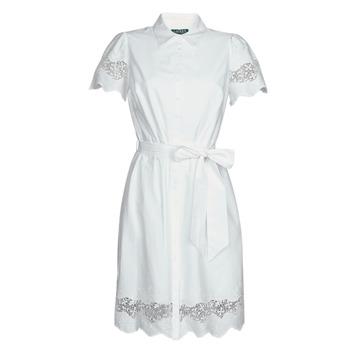 Oblačila Ženske Kratke obleke Lauren Ralph Lauren DORTHIA Bela
